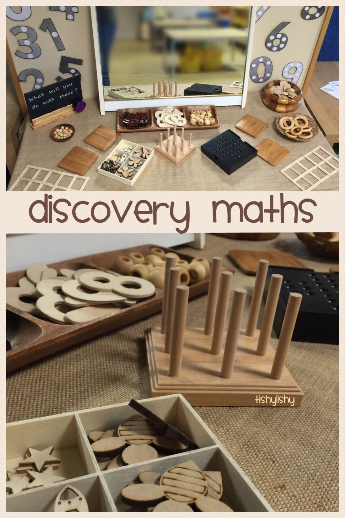 Open Ended Maths Invitation Using Natural Resources Reggio Emilia