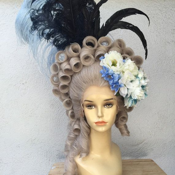 marie antoinette wig marie antoinette 18th century gray theatrical lace front costume wig. Black Bedroom Furniture Sets. Home Design Ideas