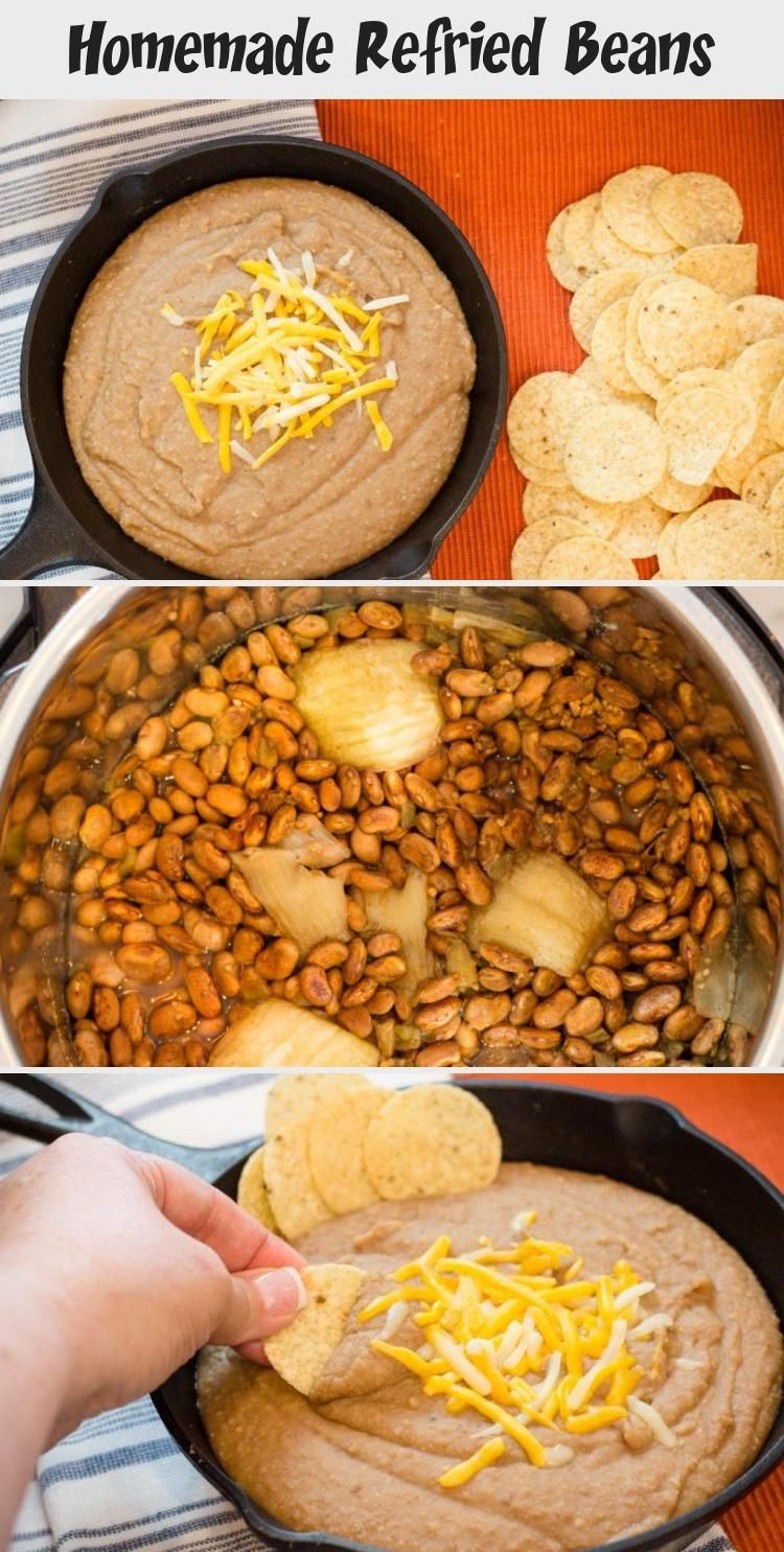 Making Homemade Refried Beans just got easier with this super simple Instant Pot Recipe I was skeptical but let me tell you that eating Homemade Refried Beans is sooo goo...