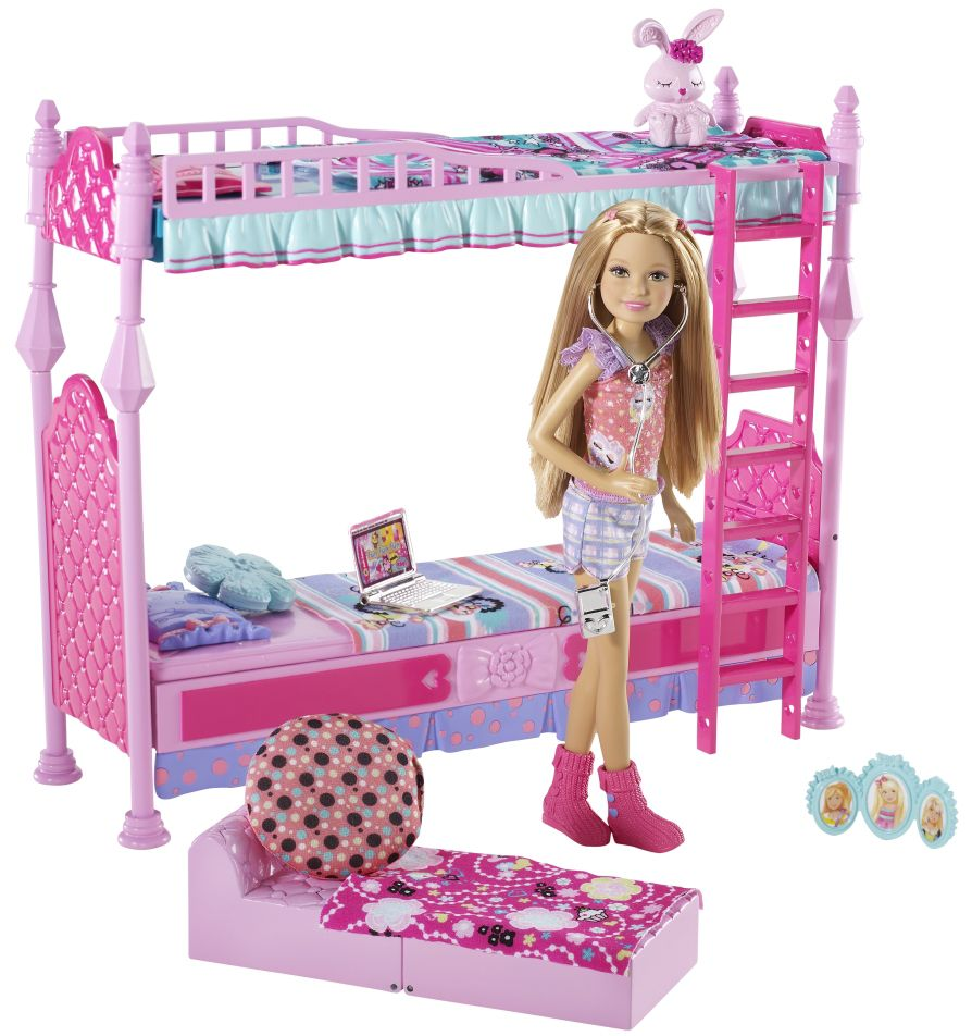 2011 Sister S Sleeptime Bedroom For 3 Furniture Stacie Doll T7534