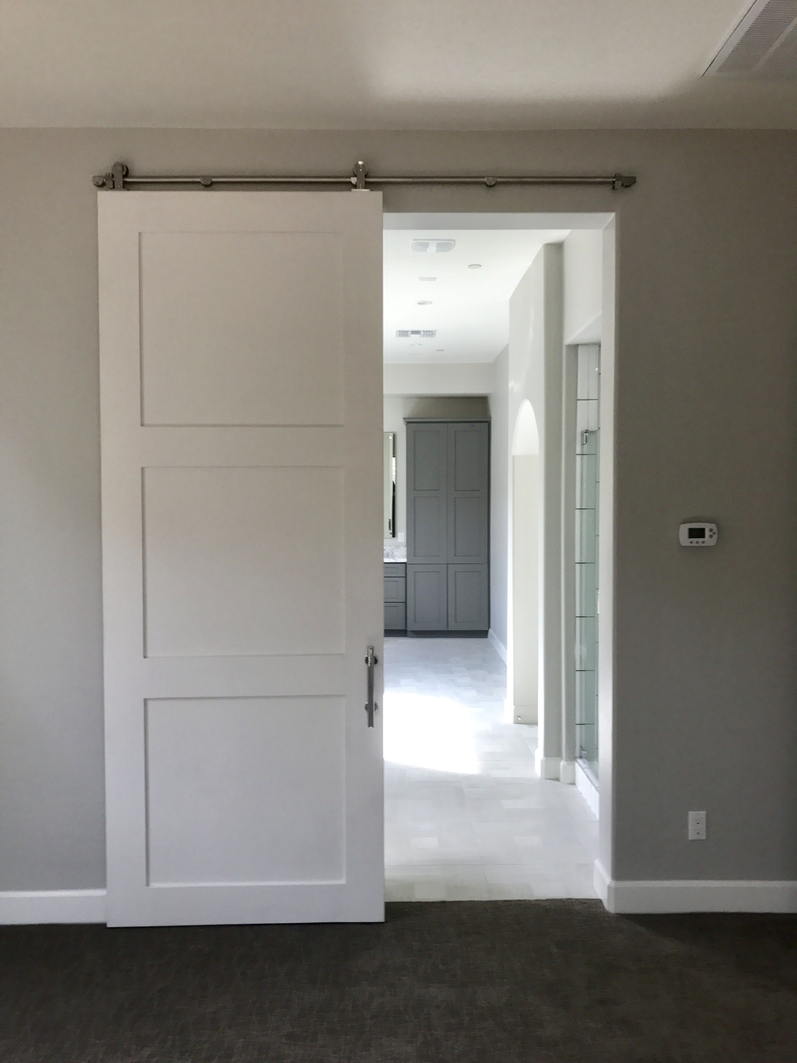 Painted Barn Doors Shaker Style Barn Door Painted White Patina Yard Custom