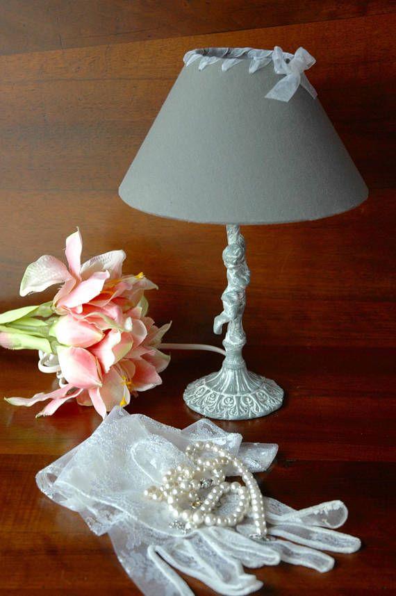Bronze Romantique Pied De Avec En Table Lampe Chérubin JF31TlKc