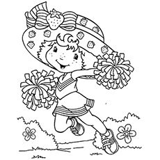 25 Beautiful Free Printable Cheerleading Coloring Pages Online Strawberry Shortcake Coloring Pages Cartoon Coloring Pages Coloring Pages For Girls