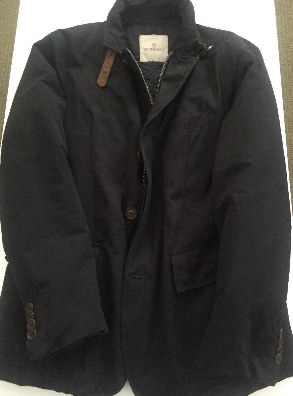 Moncler mens navy down quilted blazer size 4 eBay Жилет