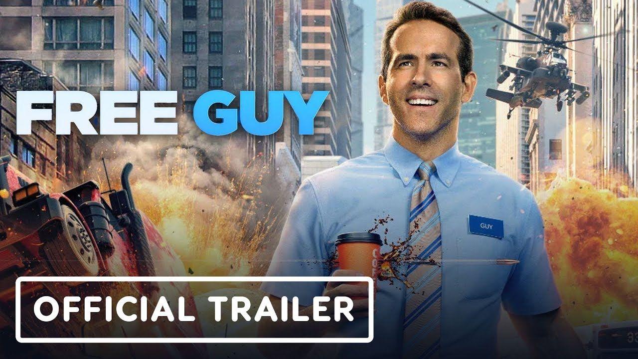 Free Guy 2020 Official Trailer Taika Waititi Ryan Reynolds Jodie Comer Ryan Reynolds Trailer Film Movie Trailers