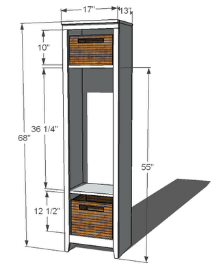 Single Locker Cabinet   Includes Supplies Needed And How To Plans.