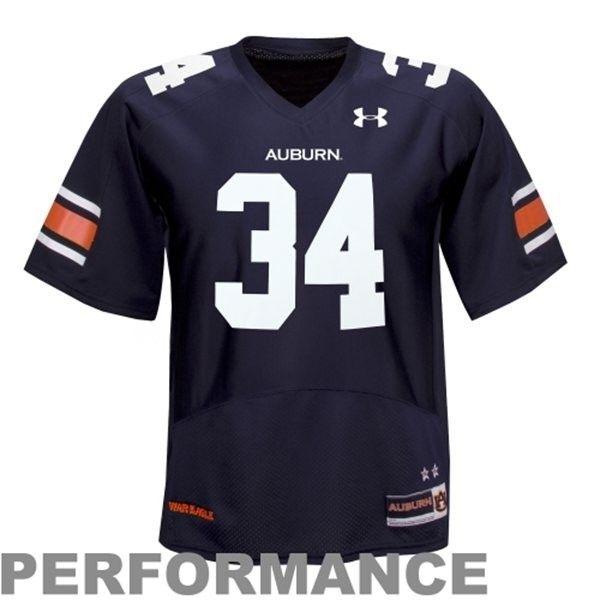 newest 143b9 5e2e4 Auburn Tigers Bo Jackson #34 Blue Youth(Kids) Jersey Under ...