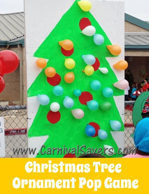 fun christmas carnival idea christmas tree balloon pop