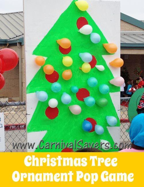 Fun Christmas Carnival Idea - Christmas Tree Balloon Pop! - Fun Christmas Carnival Idea - Christmas Tree Balloon Pop