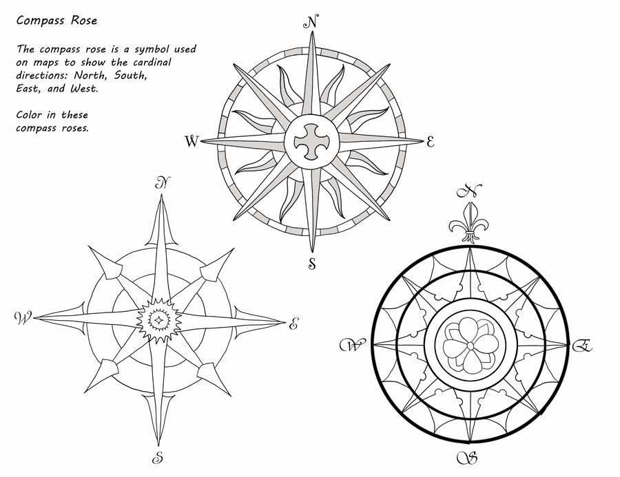 Compass Rose Coloring Page Fresh American Girl Kirsten Pioneer America Unit Study Rose Coloring Pages Compass Rose Coloring Pages