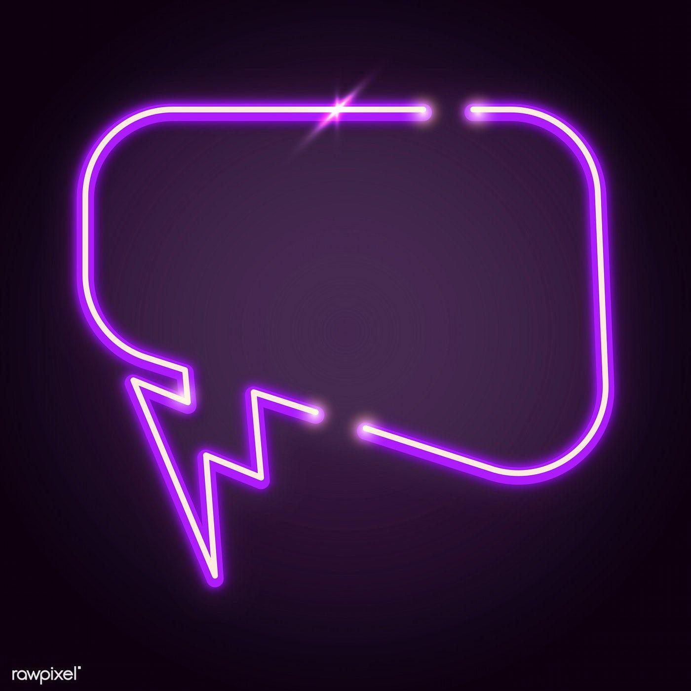Purple speech balloon design element vector free image