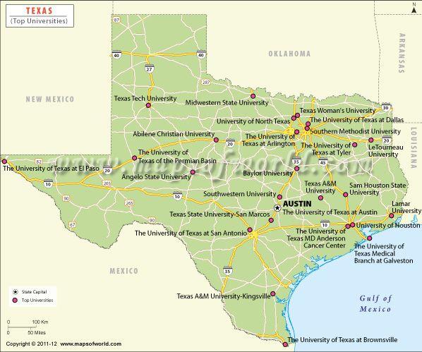Map Of Texas Universities.Texas Universities My Colleges University List College Fun College