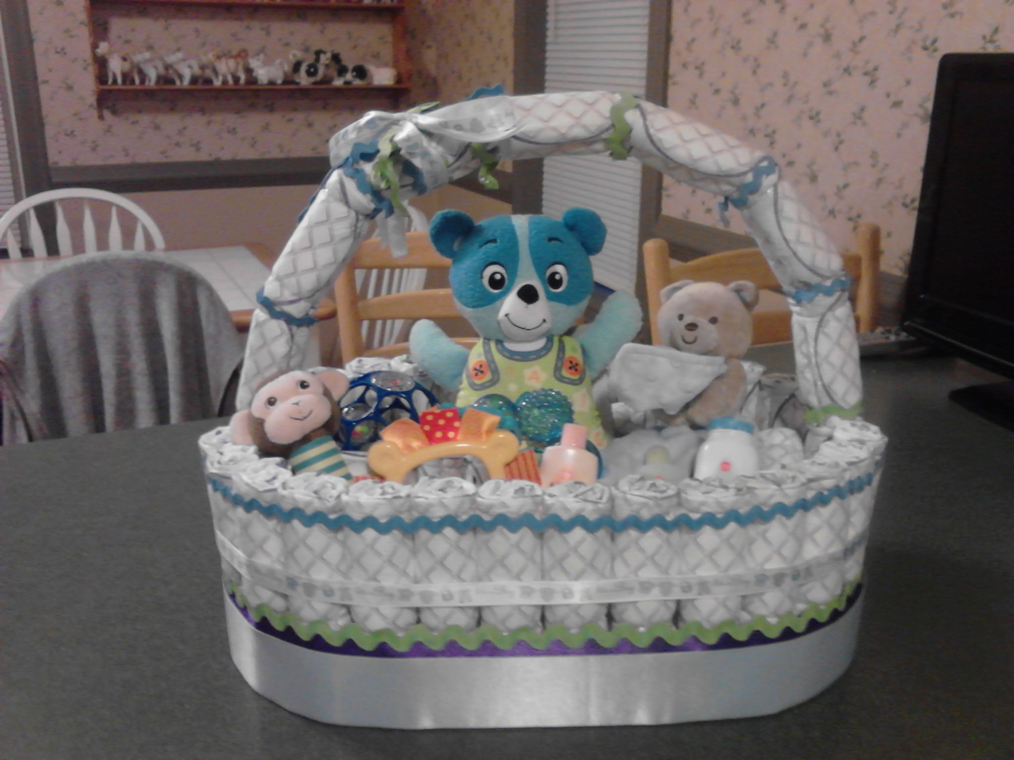 Baby Basket Brian and I made for the birth of Corey Brown