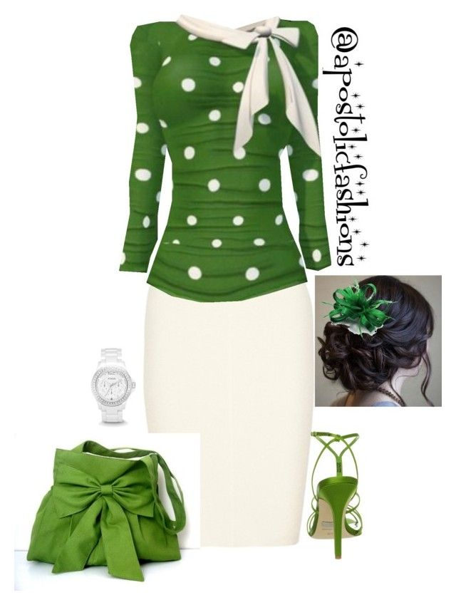 """""""Apostolic Fashions #625"""" by apostolicfashions ❤ liked on Polyvore featuring Repossi, Badgley Mischka and FOSSIL"""