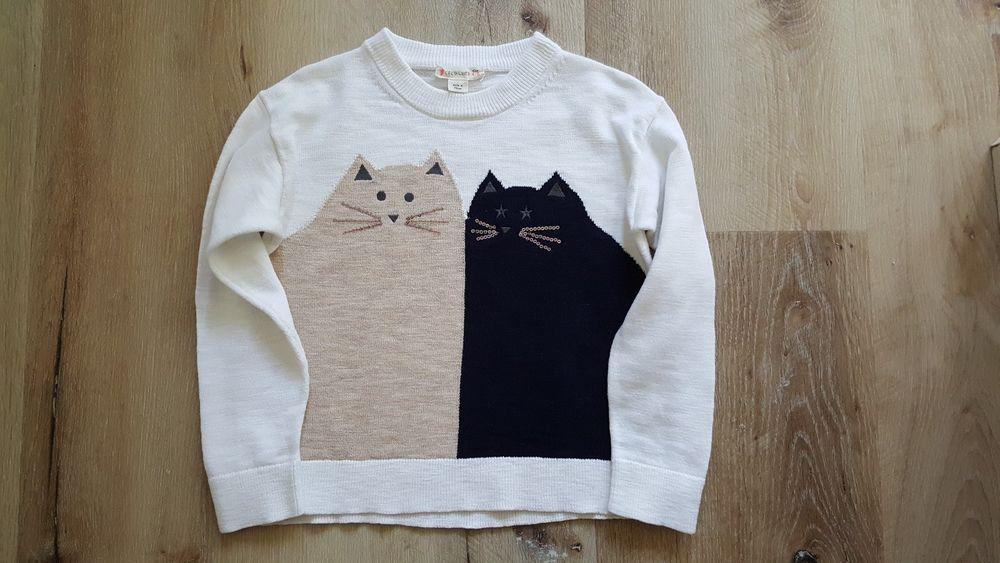 96f9c02e9 Crewcuts J Crew Girls Kitty Cats Friends Popover Sweater Size 4 5 ...
