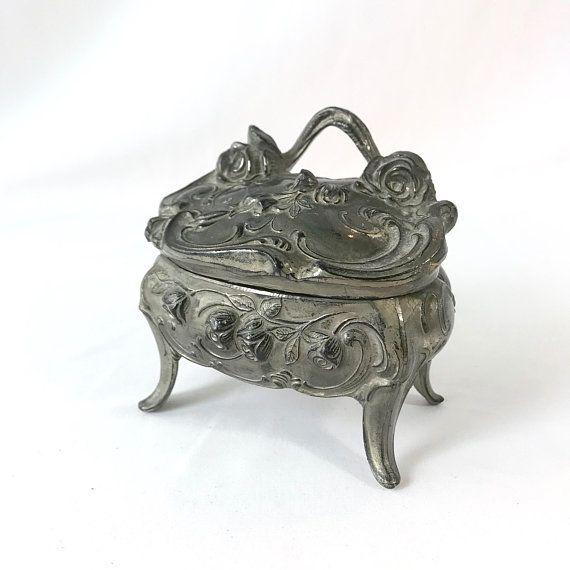 1920s Art Nouveau Jewelry Box Trinket Box 1920s Home Decor shop