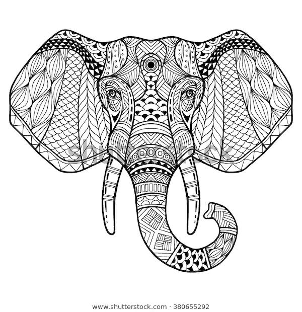 Find Elephant Front Two Tusks Elephant Head Stock Images In Hd And Millions Of Other Royalty Free Stock Ph Elephant Head Drawing Elephant Artwork Elephant Head