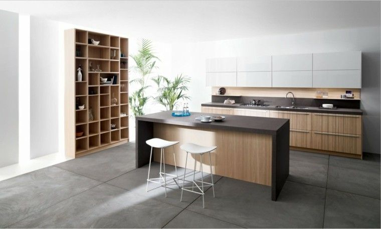 Barras de cocina de diseño moderno - 50 ideas | Islas de cocina ...