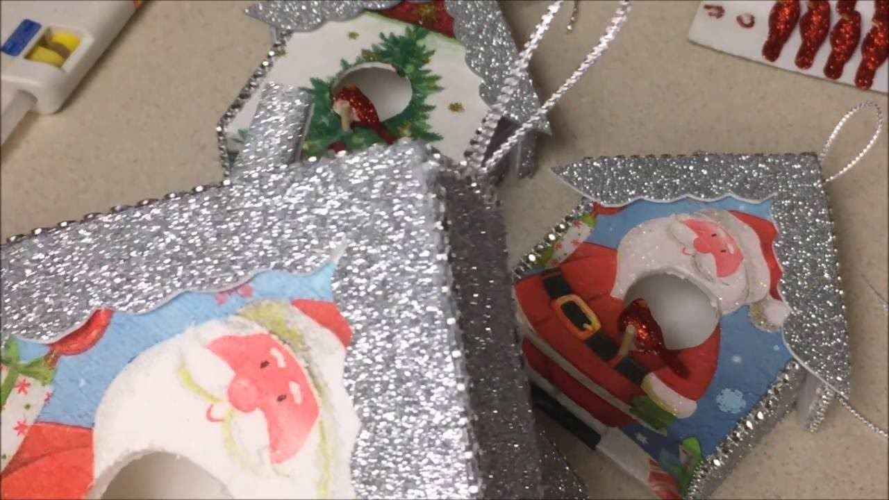 Manualidades navide a de casita de decoracion para el arbol de navidad video manualidades de - Manualidades decoracion de navidad ...