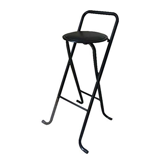 Outstanding Lbs Black Padded Folding High Chair Breakfast Kitchen Bar Bralicious Painted Fabric Chair Ideas Braliciousco