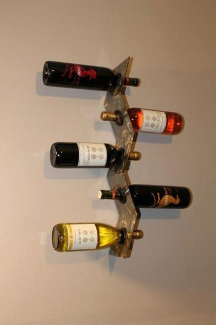 Wall Mounted Wine Rack  Five Bottle Vertical by SBDesignsLimited, $36.00