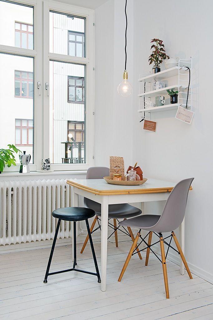 Met deze tips past de eettafel tóch in jouw kleine huisje | Eettafel ...