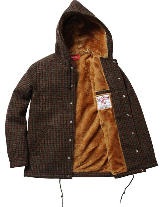 Supreme x Harris Tweed – Wool Hooded Coaches Jacket | Available ...