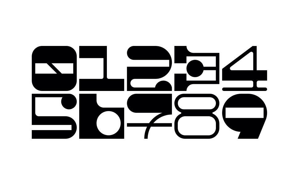 Ephemera typography design font numbers typography