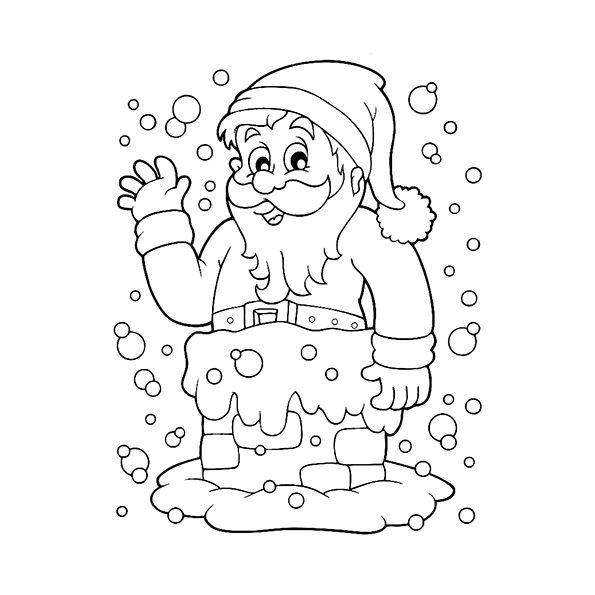 Desenhos Do Papai Noel Para Colorir