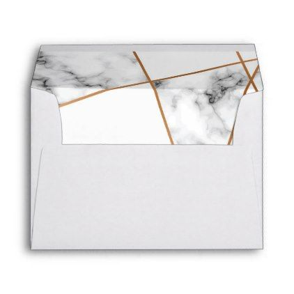 Marble and gold elegant wedding envelope - individual customized - a7 envelope template