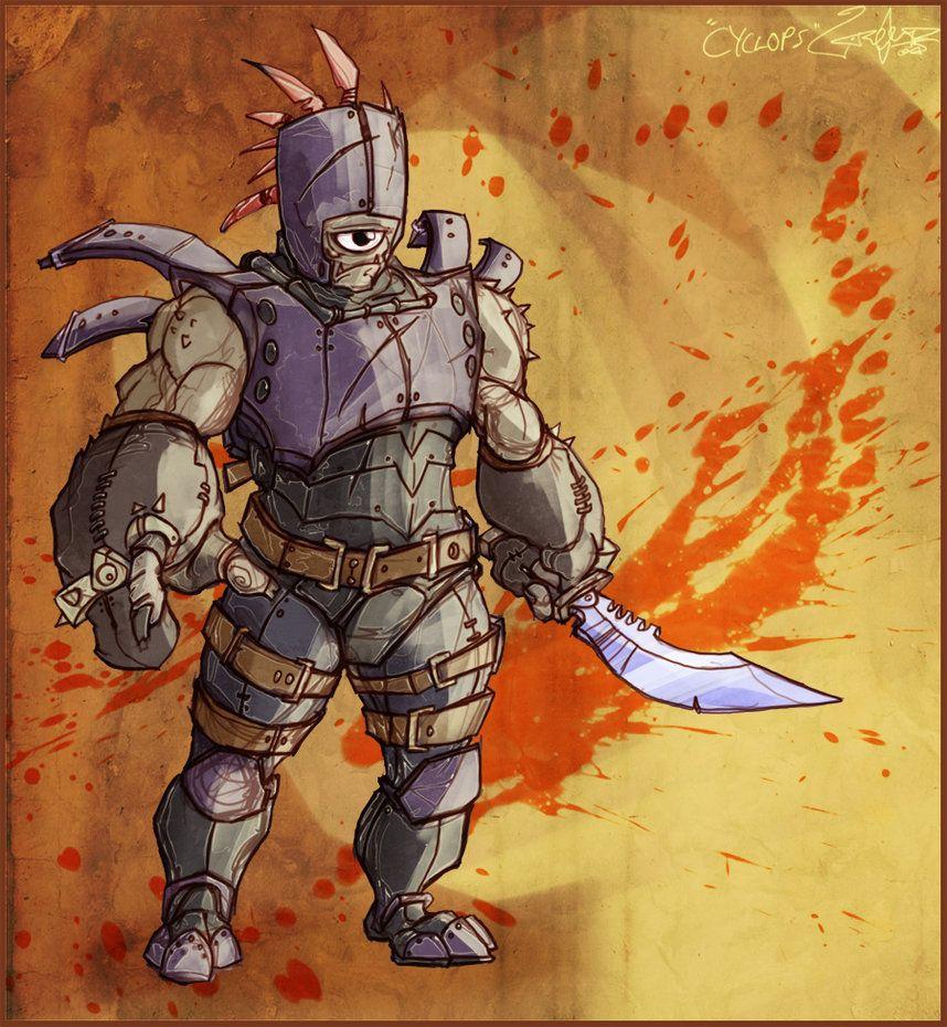 Cc fan art 20 39 cyclops 39 by on - Castle crashers anime ...