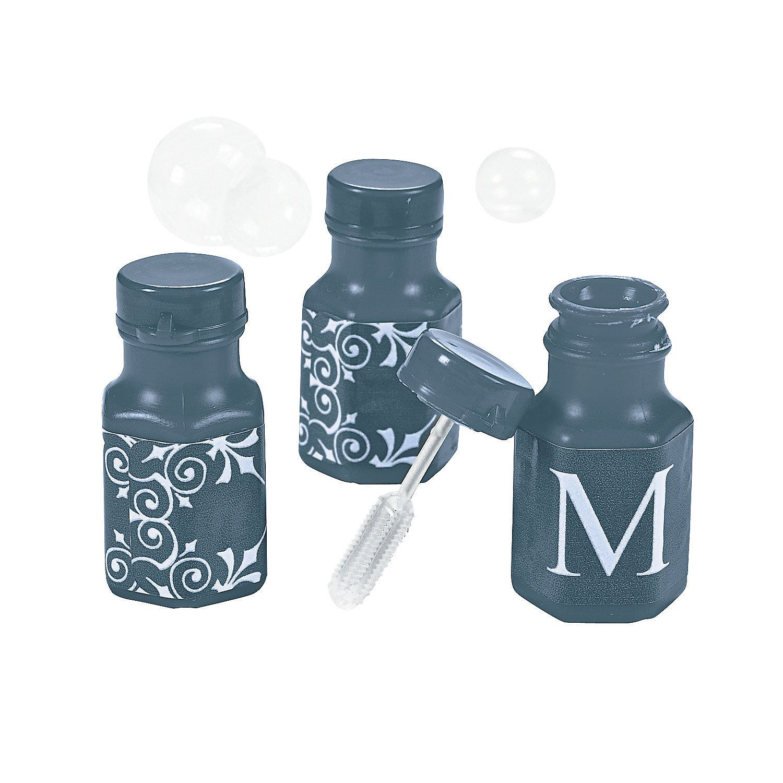 Personalized+Navy+Monogram+Wedding+Mini+Bubble+Bottles+-+ ...