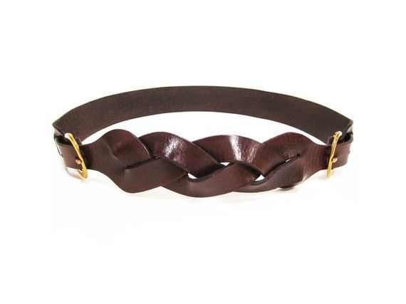 The Braided 2-Piece Harness Belt in Bison Brown - want it! 38a7d974759f