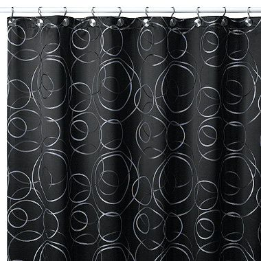 Eclipse 54 Inch X 78 Inch Fabric Stall Shower Curtain