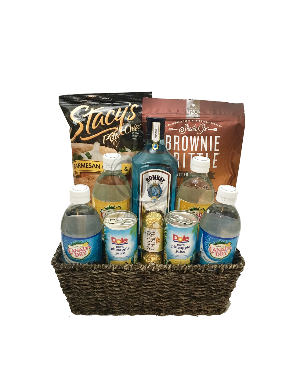 The Bombay Sapphire Gift Basket Is Available For Same Day Delivery In Las Vegas NV Martini Baskets Birthday And More
