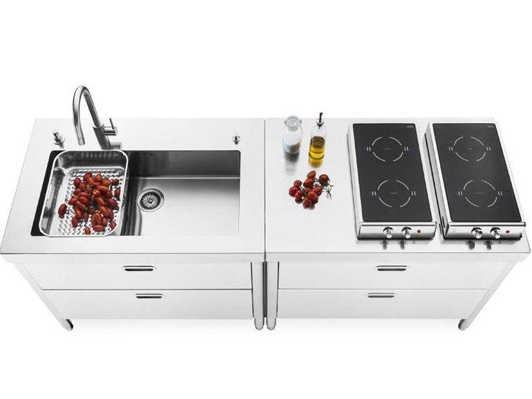 COMPOSIZIONE CUCINA 100 by ALPES-INOX | KEUKEN | Pinterest | Cucina ...