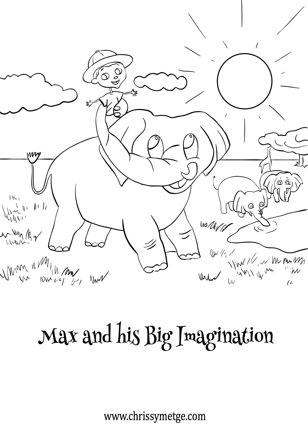 Free Book Cover Colouring Sheet
