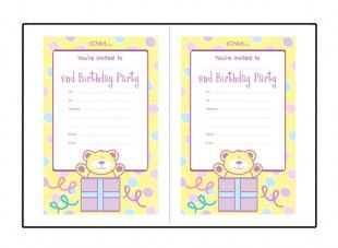 Birthday party invitations for a childs 2nd birthday visit ichild birthday party invitations for a childs 2nd birthday visit ichild for lots more birthday ideas for ages 1 11 years stopboris Image collections