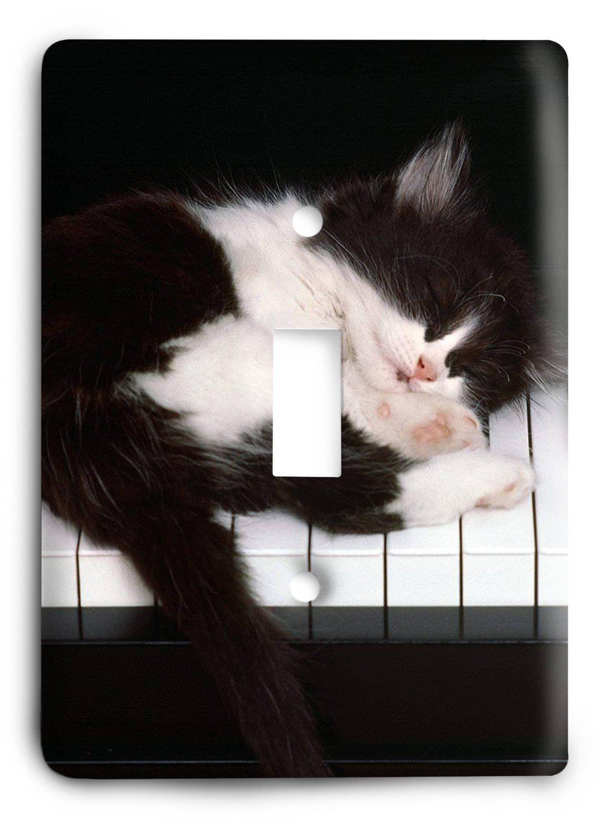Ivory Piano Cat Love G5v69 Light Switch Cover Kittens Cutest Cat Sleeping Kittens