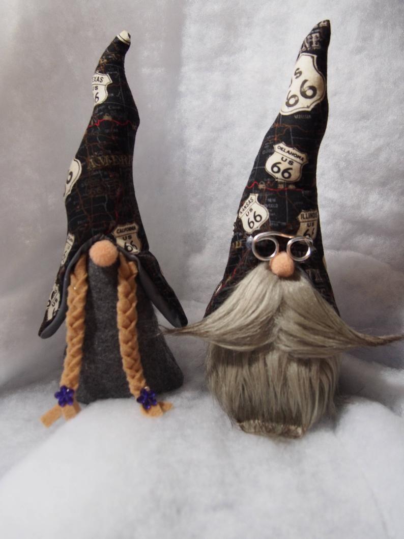 Biker GnomeGnomNisse skandinavian Gnome Tomte Handmade | Etsy