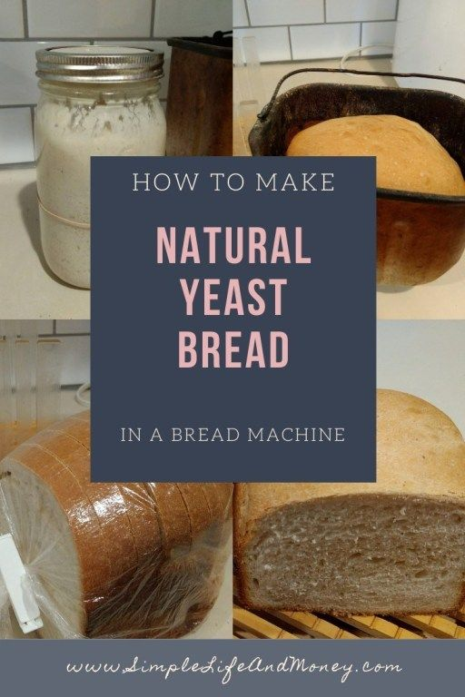 Natural Yeast Bread in a Bread Machine (1.5 lb Loaf ...