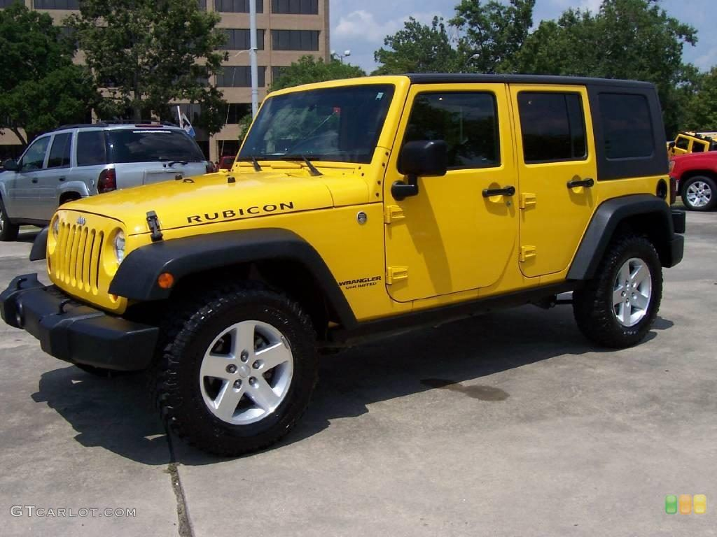 Jeep Wrangler Unlimited Rubicon Yellow Jeep Jeep Wrangler Unlimited Rubicon Yellow Jeep Wrangler