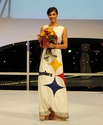 steelers wedding dress - designed by mrs. tomlin http://pinterest ...