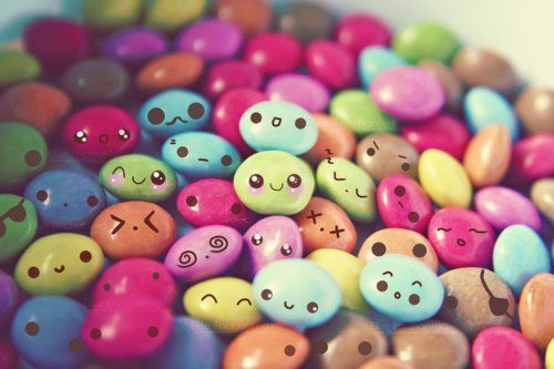 Candy faces.