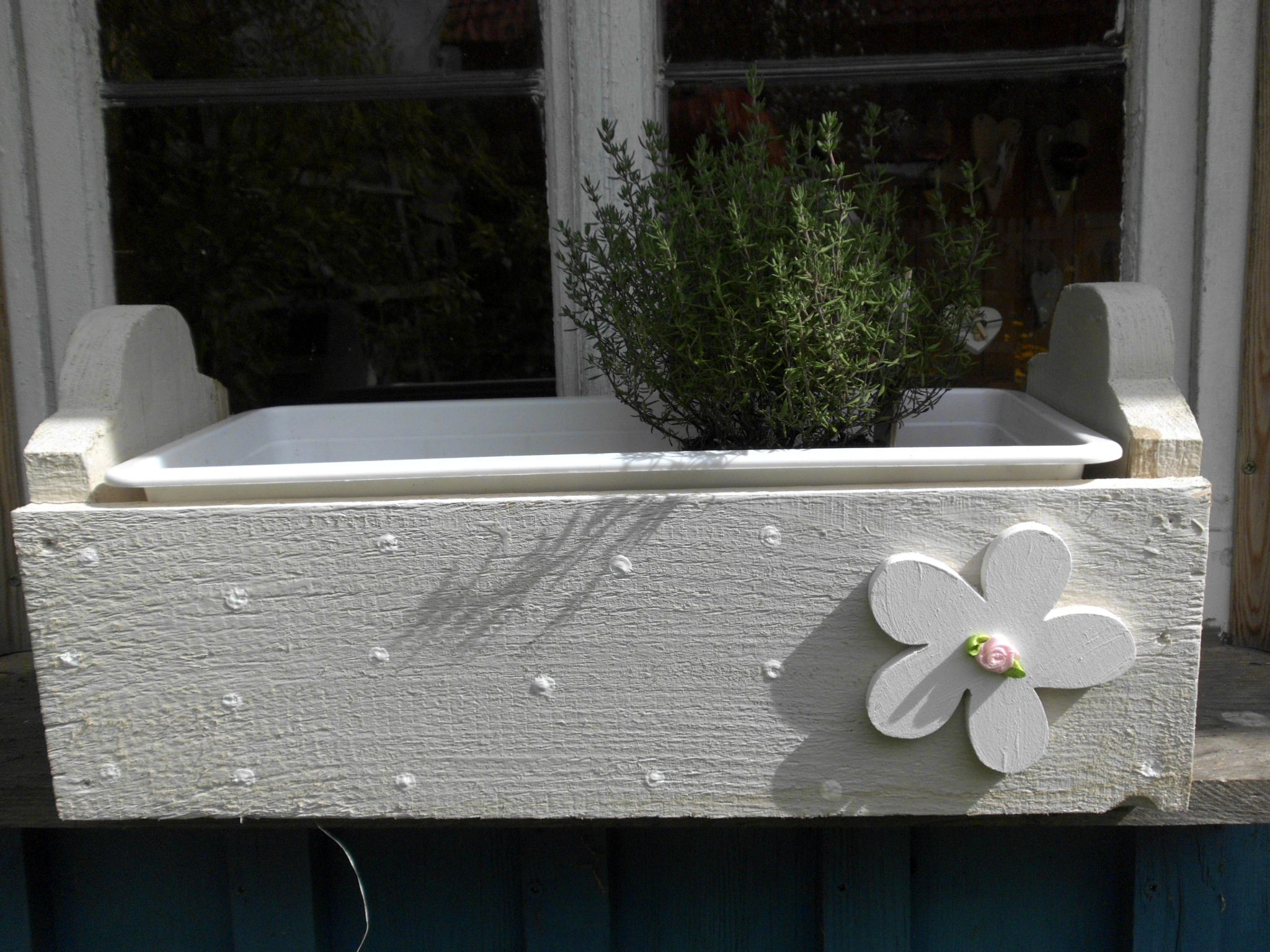 ♥ Holzherz- Grau ♥ | Garten Blumenkasten Mit Wasserspeicher Blumen