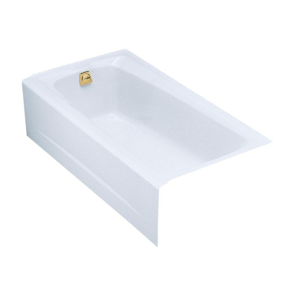 KOHLER Mendota 5 ft. Left-Hand Drain Soaking Tub in White | Products