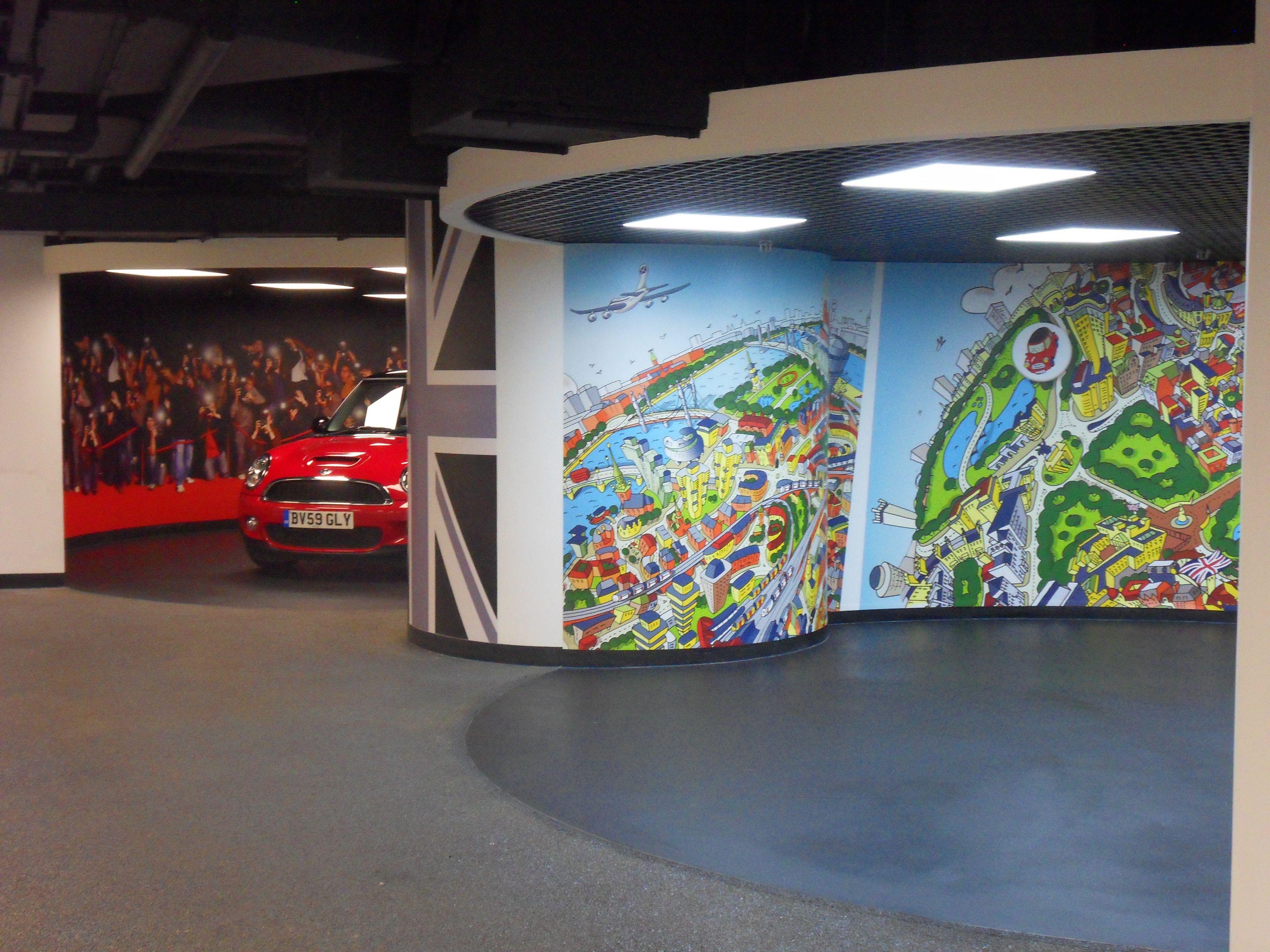 MINI Car Showroom Large Format Printing Of Digital Wallpaper Carshowroom LFP Largeformatprint