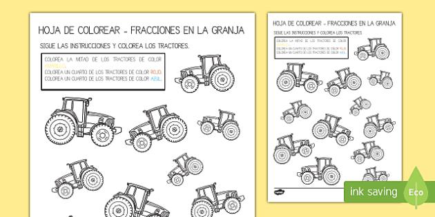 Una ficha para introducir el concepto de las fracciones y para reforzar el vocabulario de la granja. Para el proyecto educativo de la granja. Va muy bien para educación infantil