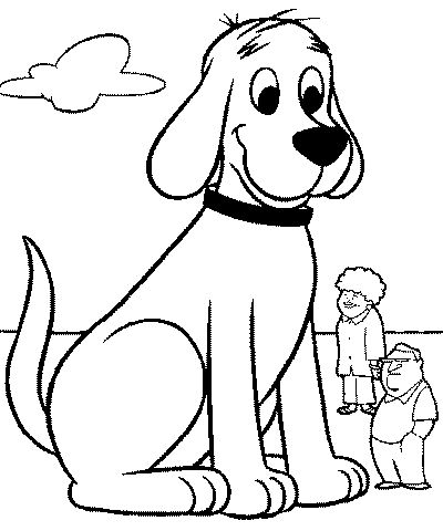 dog colouring pages for kids - Drawing For Children To Colour