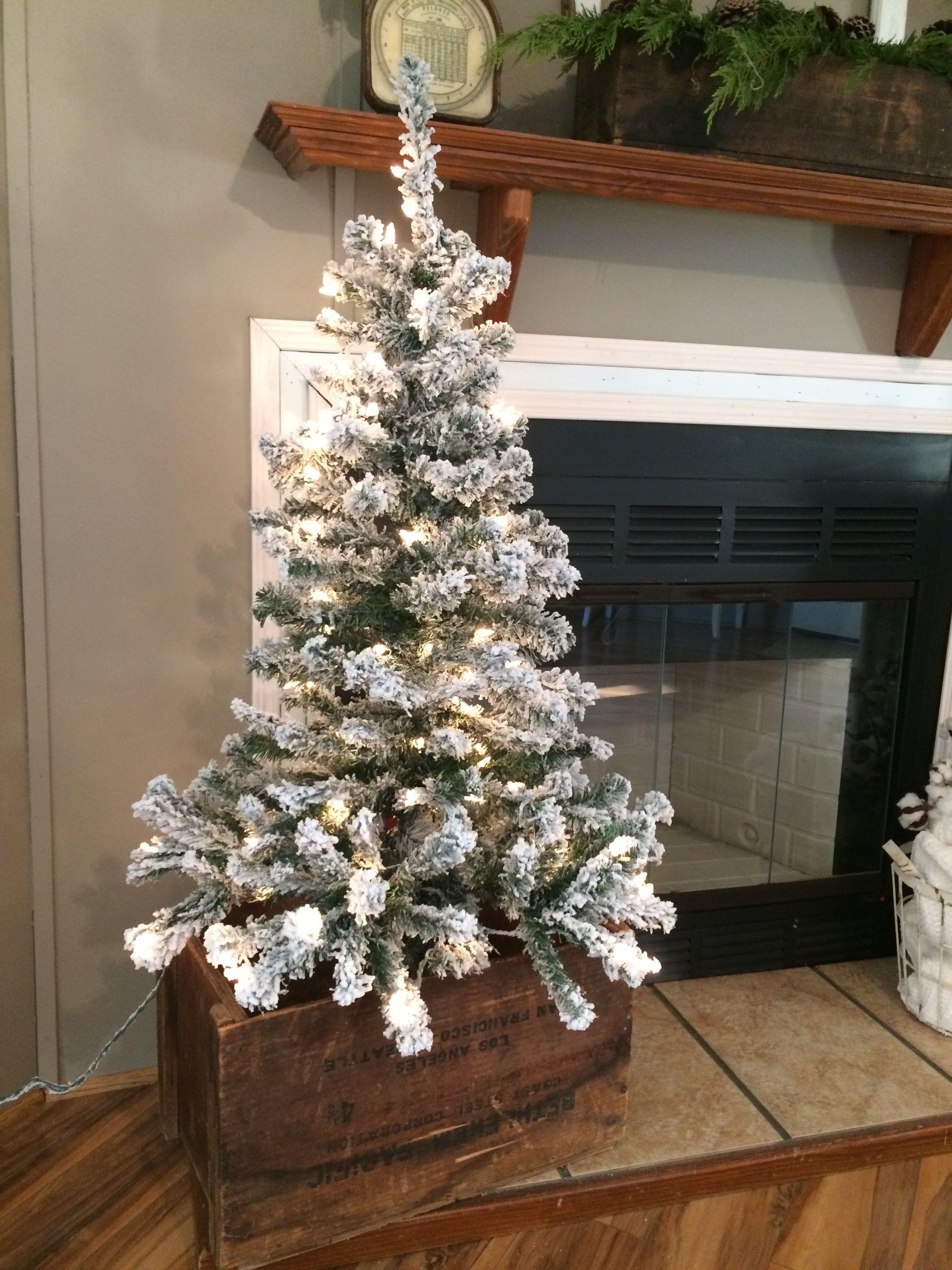44++ Flocked christmas tree in bucket ideas in 2021